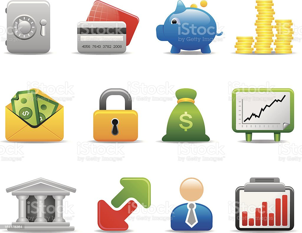 business icons royalty-free stock vector art