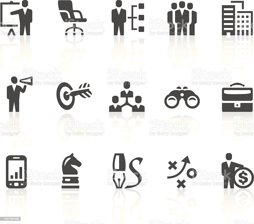 Business icons on white background royalty-free stock vector art