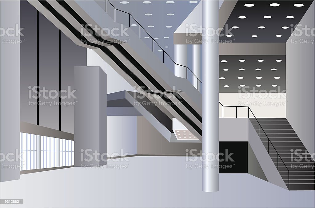 business interior vector art illustration