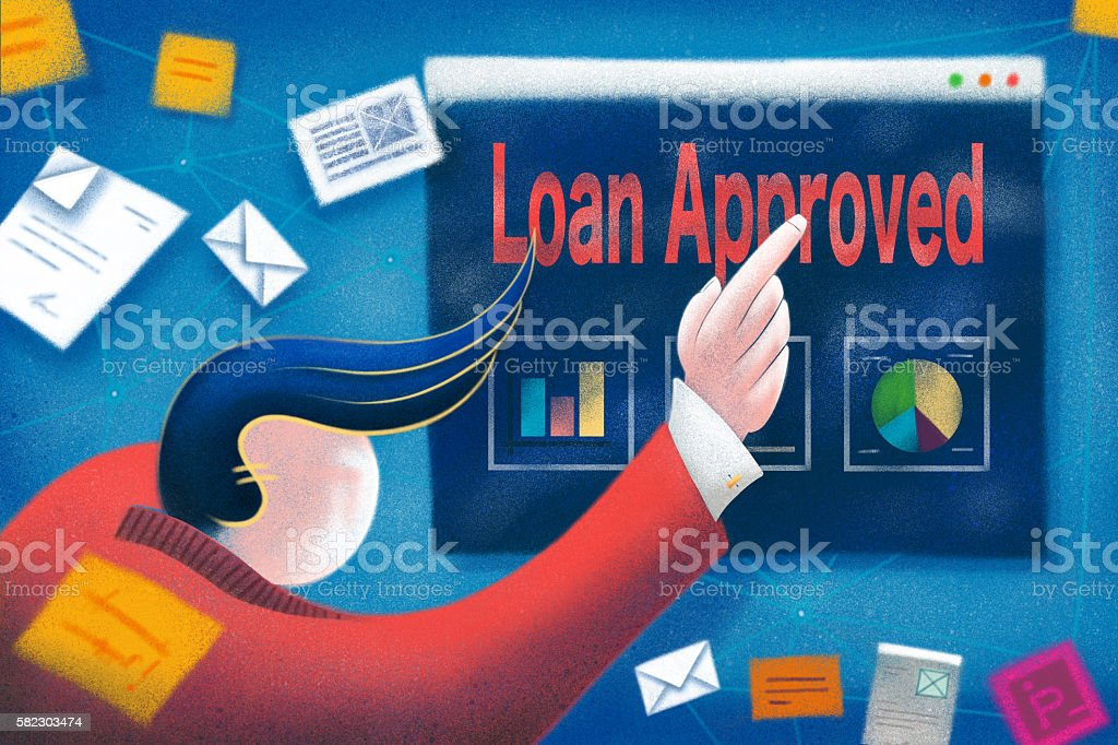 Business Loan Approved Concept vector art illustration