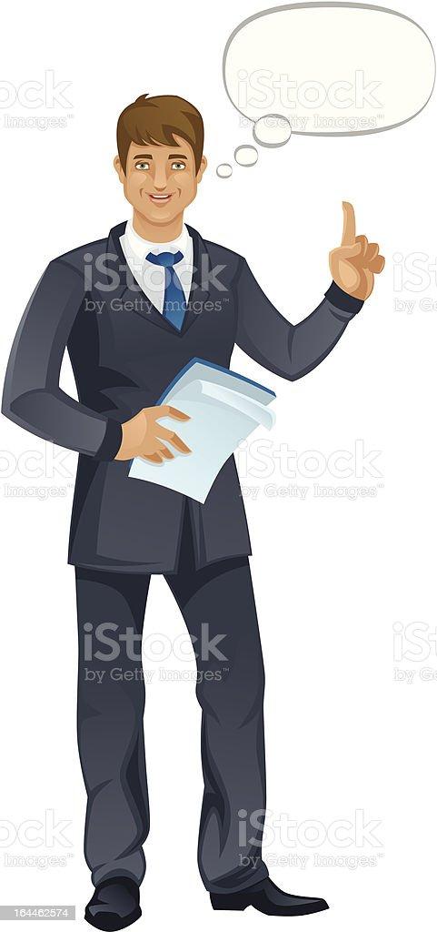 Business man royalty-free stock vector art