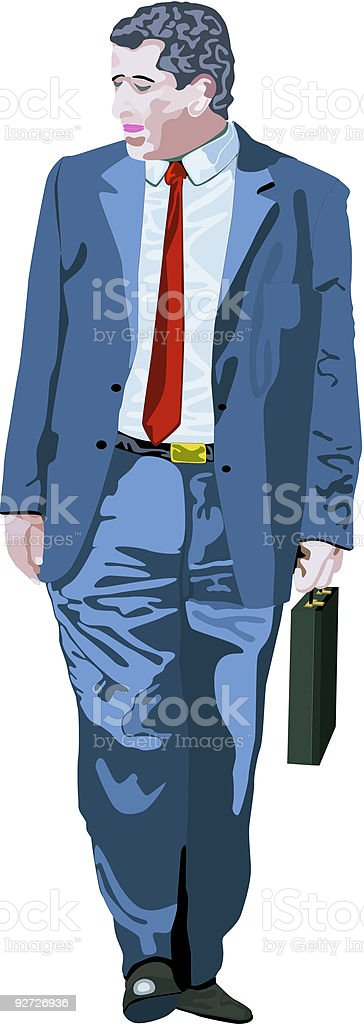 Business Man (Vector) royalty-free stock vector art
