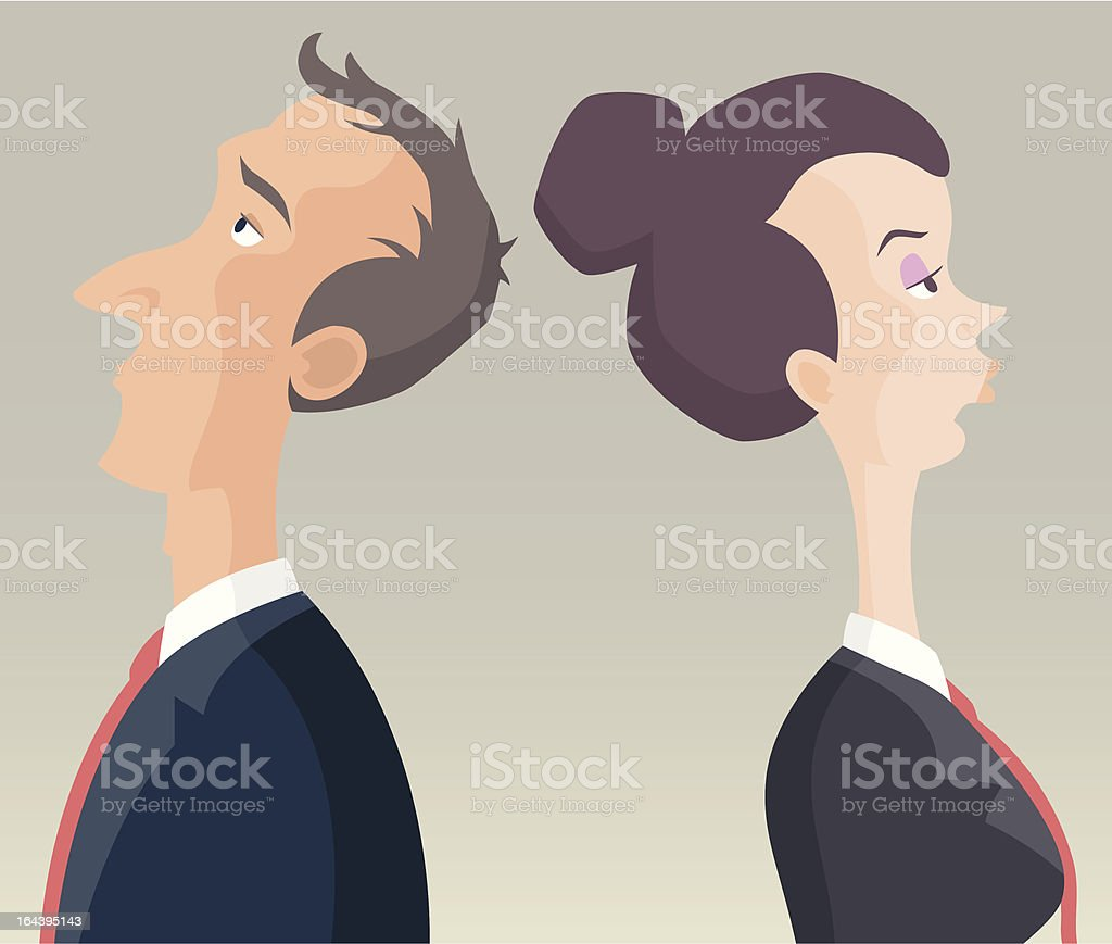 Business Man & Woman royalty-free stock vector art