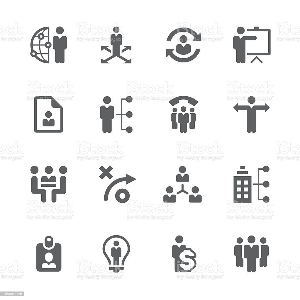 Business management ,strategy and human resource icons | prime series vector art illustration