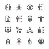 Business management ,strategy and human resource icons   prime series