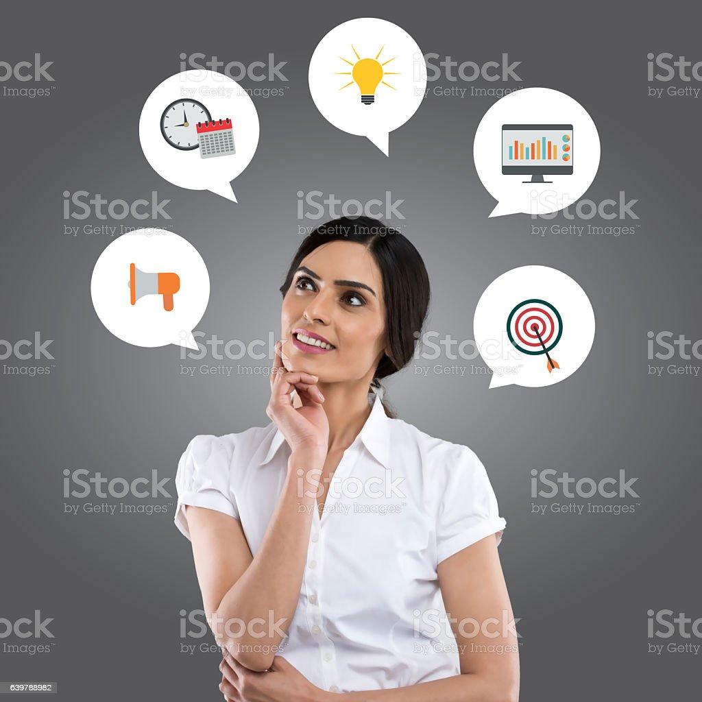 Business marketing concept vector art illustration