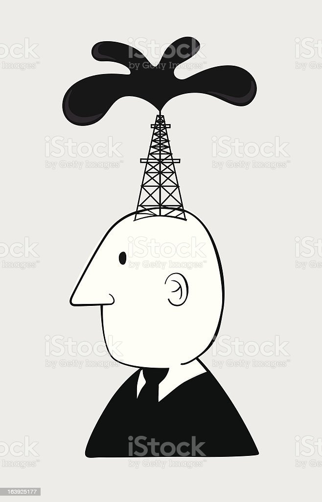 Business oil man royalty-free stock vector art