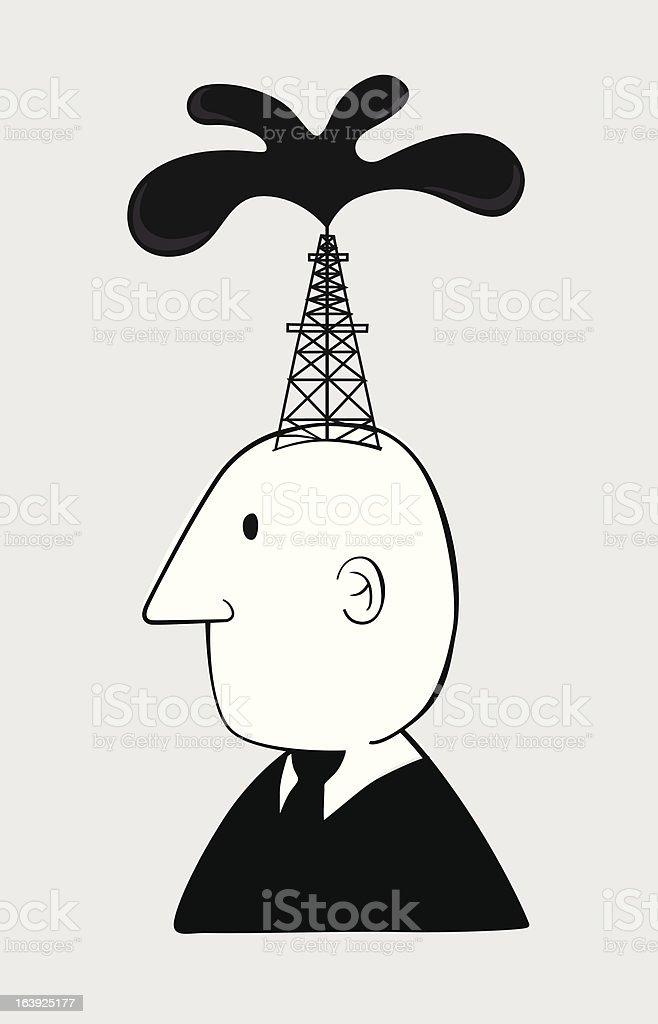 Business oil man vector art illustration