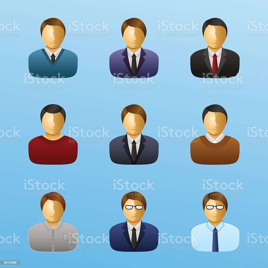 Business People Icon Set - Businessman royalty-free stock vector art