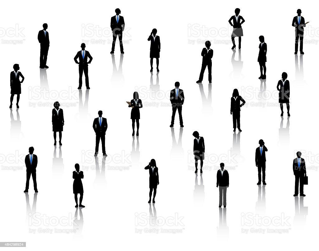 Business People vector art illustration
