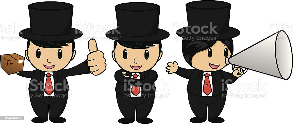Business People Showing Thumbs Up with Tablet royalty-free stock vector art