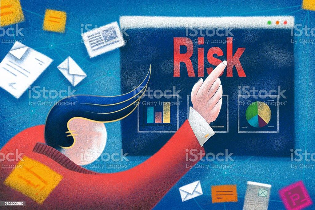 Business Risk Concept vector art illustration