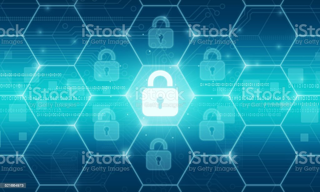 Business security background vector art illustration