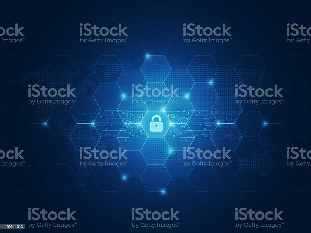 Business security concept vector art illustration