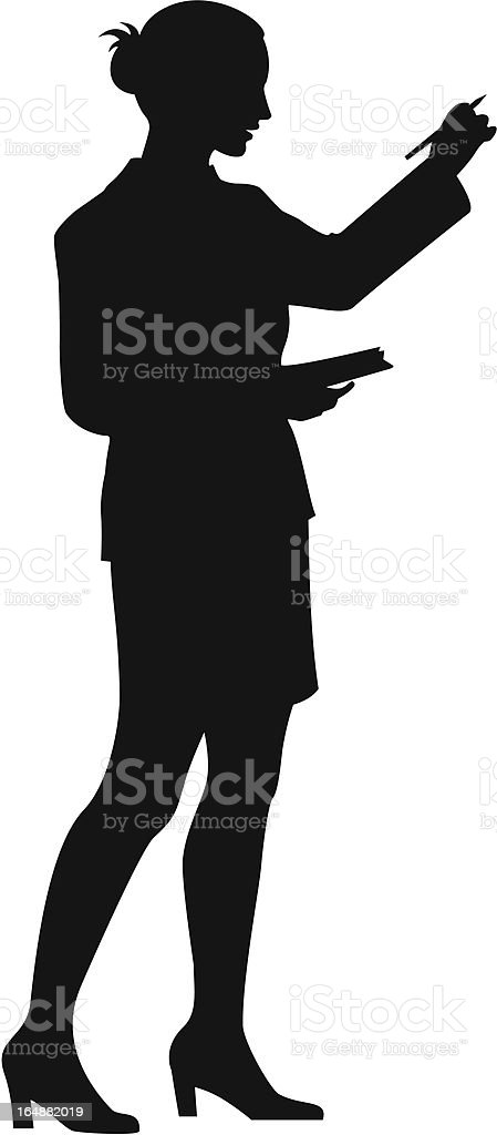 Business Silhouette royalty-free stock vector art