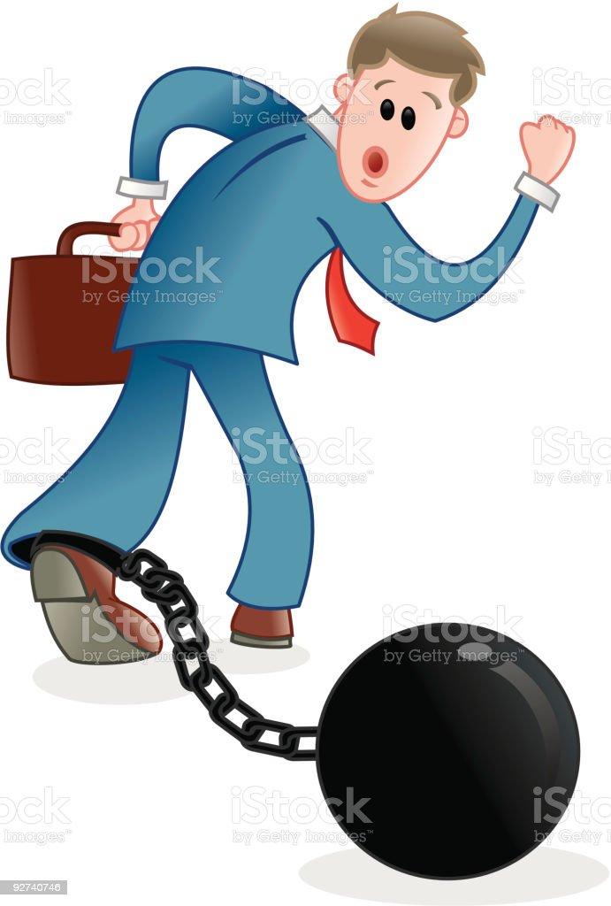 Negocios-esclavo para el trabajo - ilustración de arte vectorial