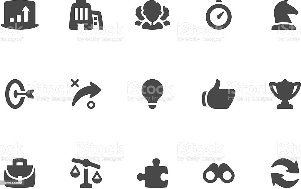 Business Strategy Icon Set | Coal Series royalty-free stock vector art