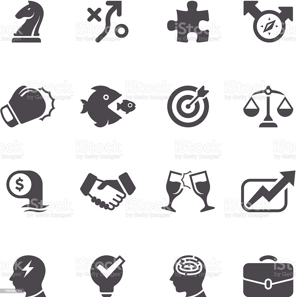 Business Strategy Icon Set | Unique Series vector art illustration