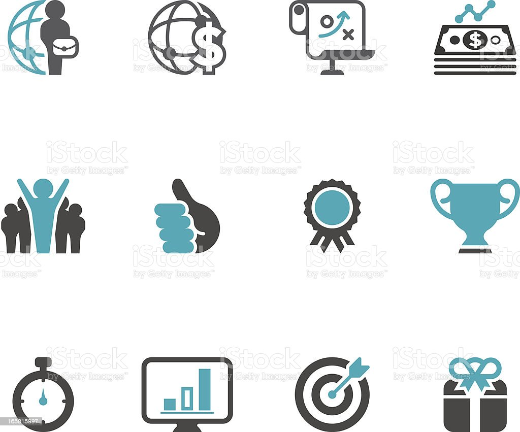 Business & Success Icon Set   Concise Series royalty-free stock vector art