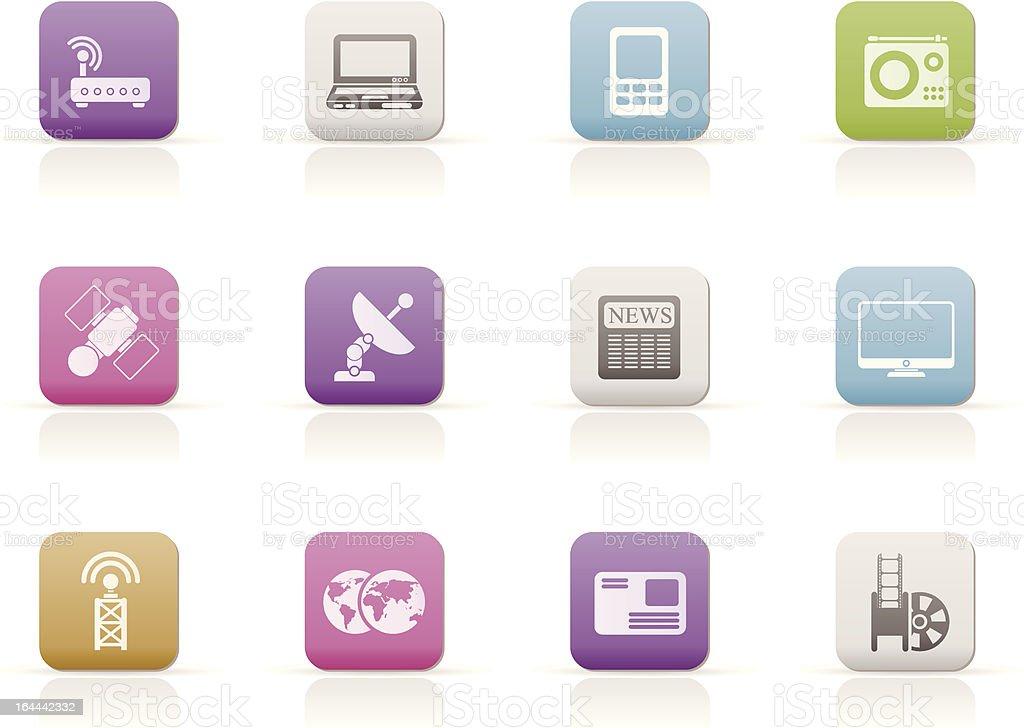 Business, technology communications icons royalty-free stock vector art