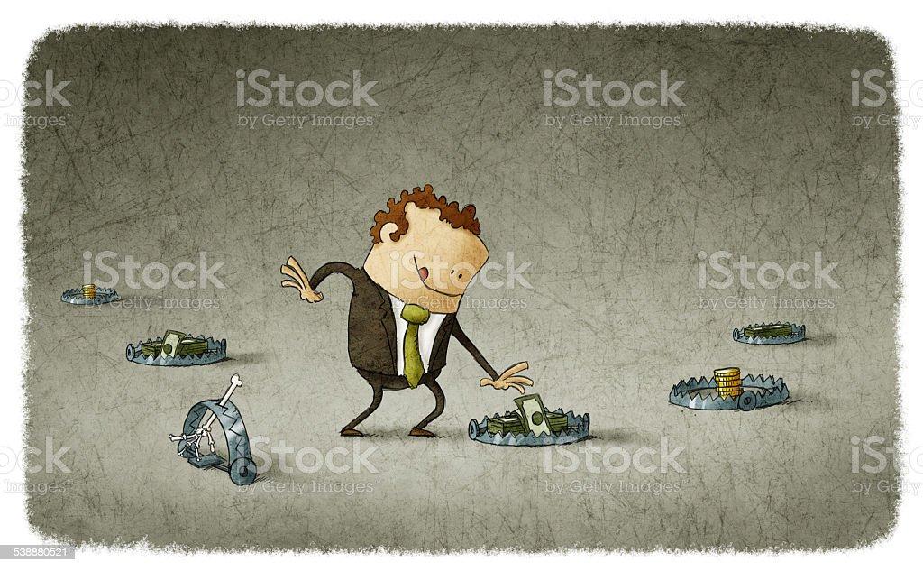 business trap vector art illustration