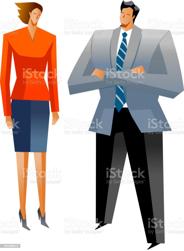 Businessman and Businesswoman royalty-free stock vector art