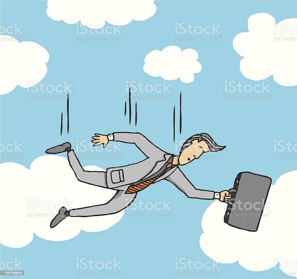 Businessman freefall vector art illustration