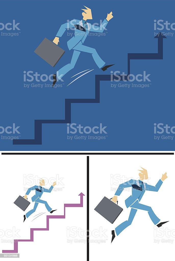 businessman going up royalty-free stock vector art