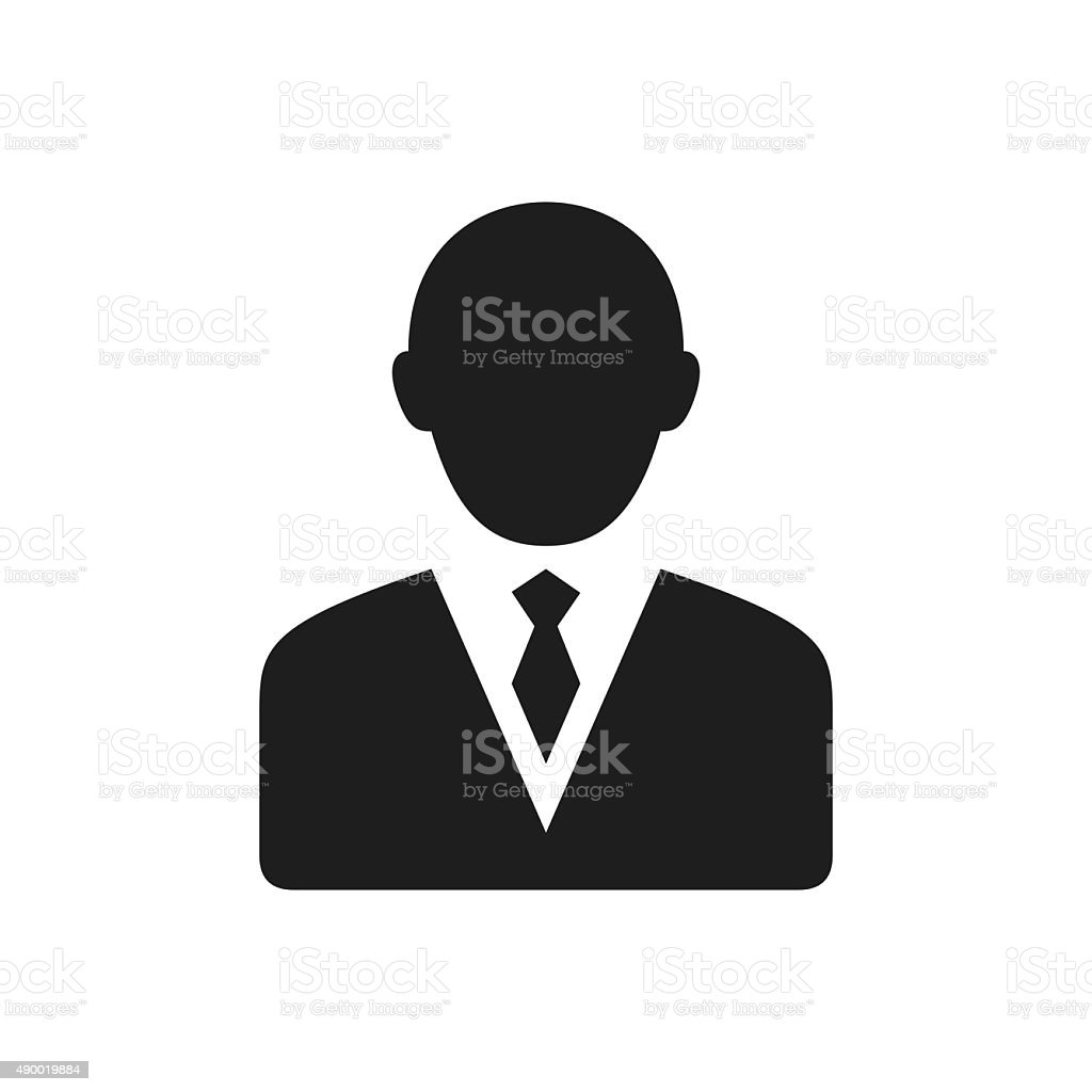 Businessman icon on a white background. - Single Series vector art illustration