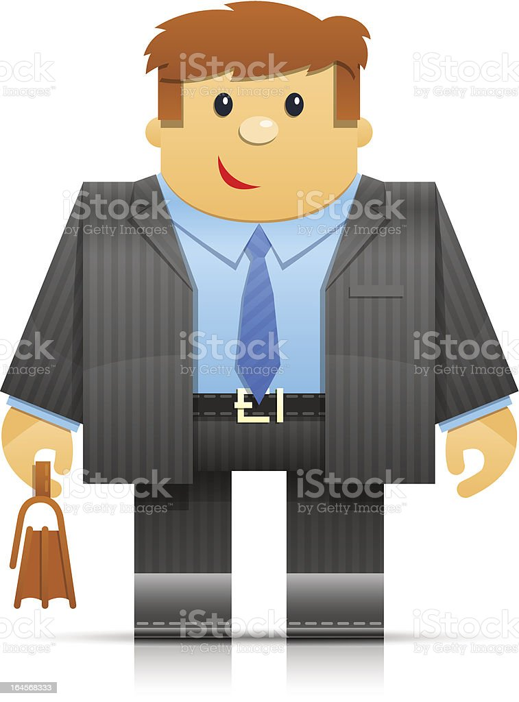businessman origami toy royalty-free stock vector art