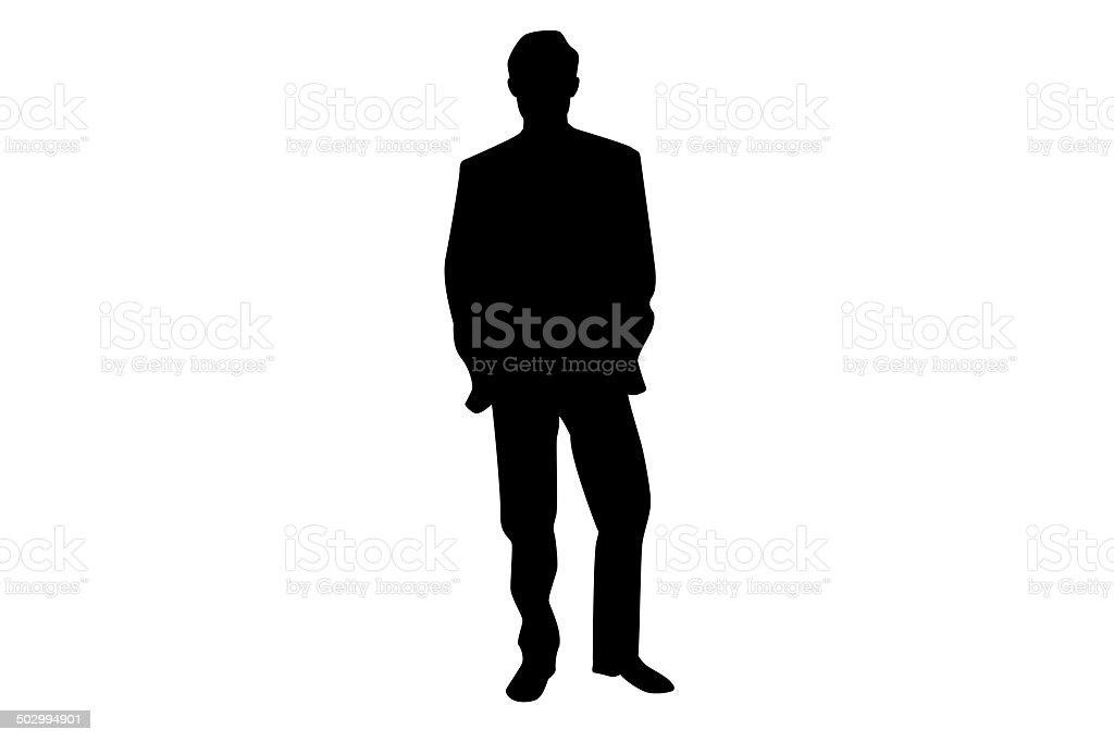 Businessman silhouette. vector art illustration