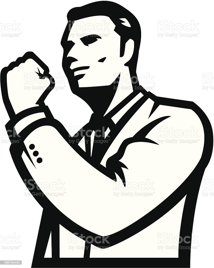 Businessman success royalty-free stock vector art