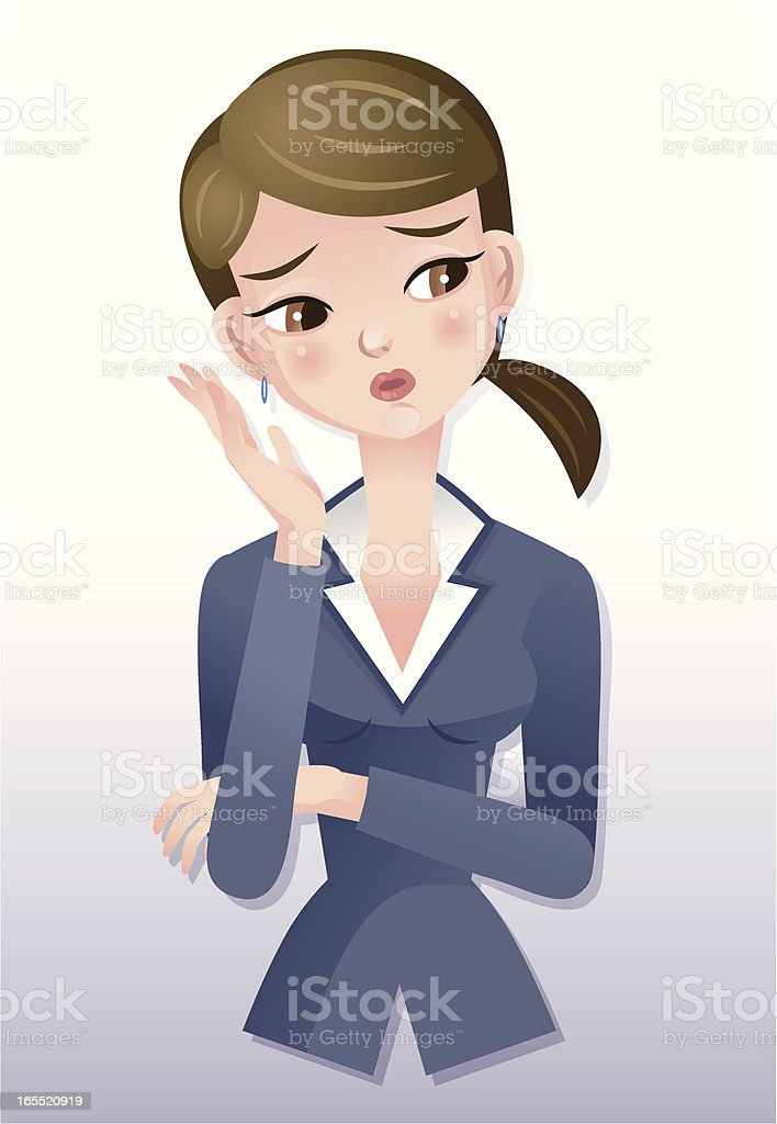 businesswoman-think royalty-free stock vector art