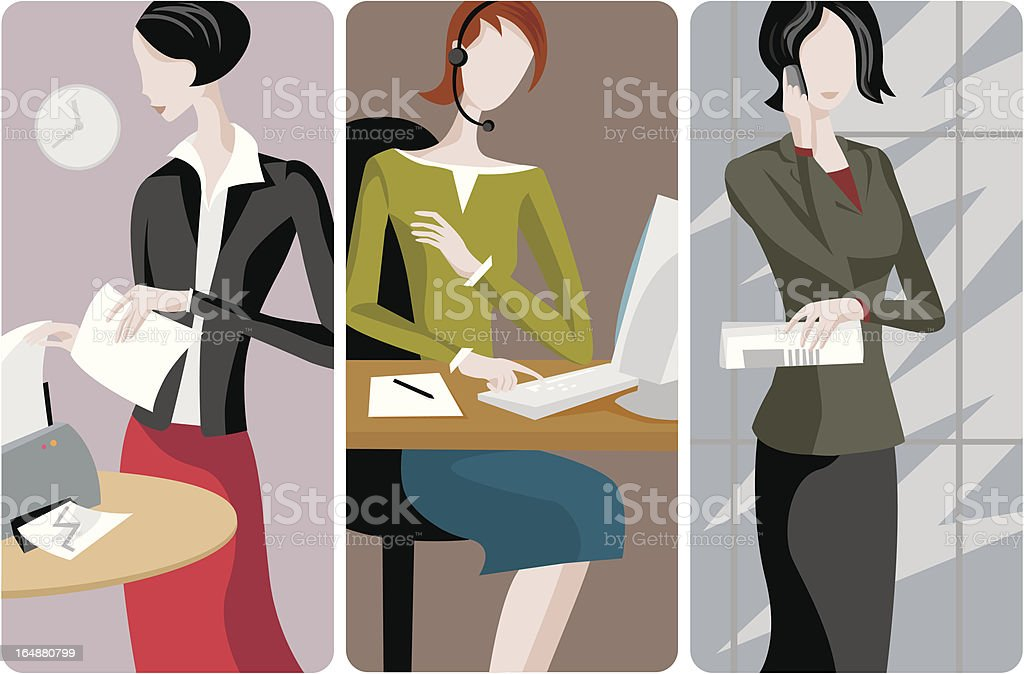 Businesswomen Vector Illustrations Series royalty-free stock vector art