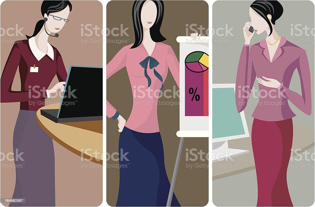 Businesswomen Vector Illustrations Series royalty-free stock vector art