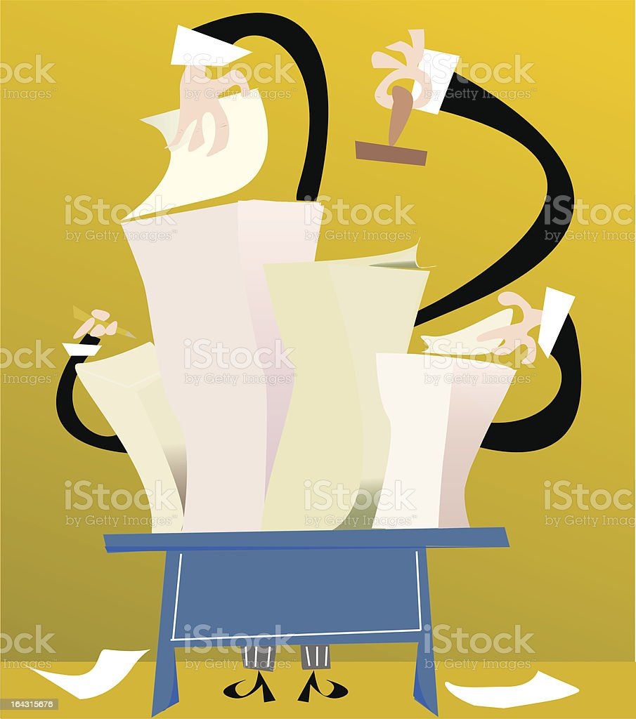busy day at work royalty-free stock vector art