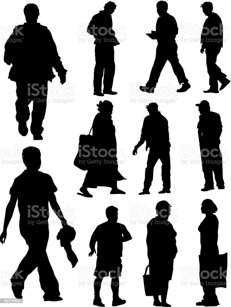 Busy People (Vector) royalty-free stock vector art