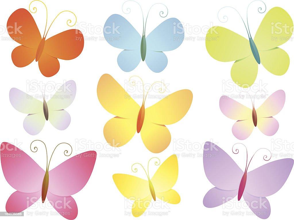 Butterflies I royalty-free stock vector art