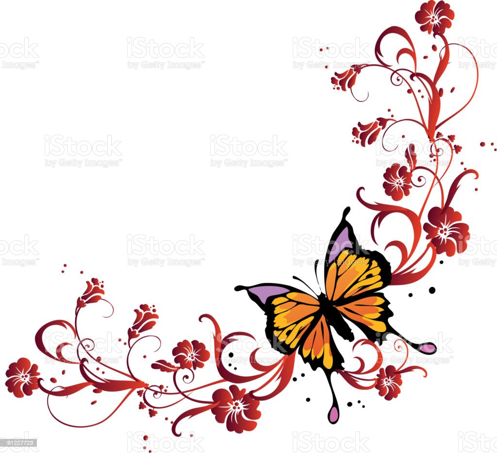 Butterfly corner royalty-free stock vector art