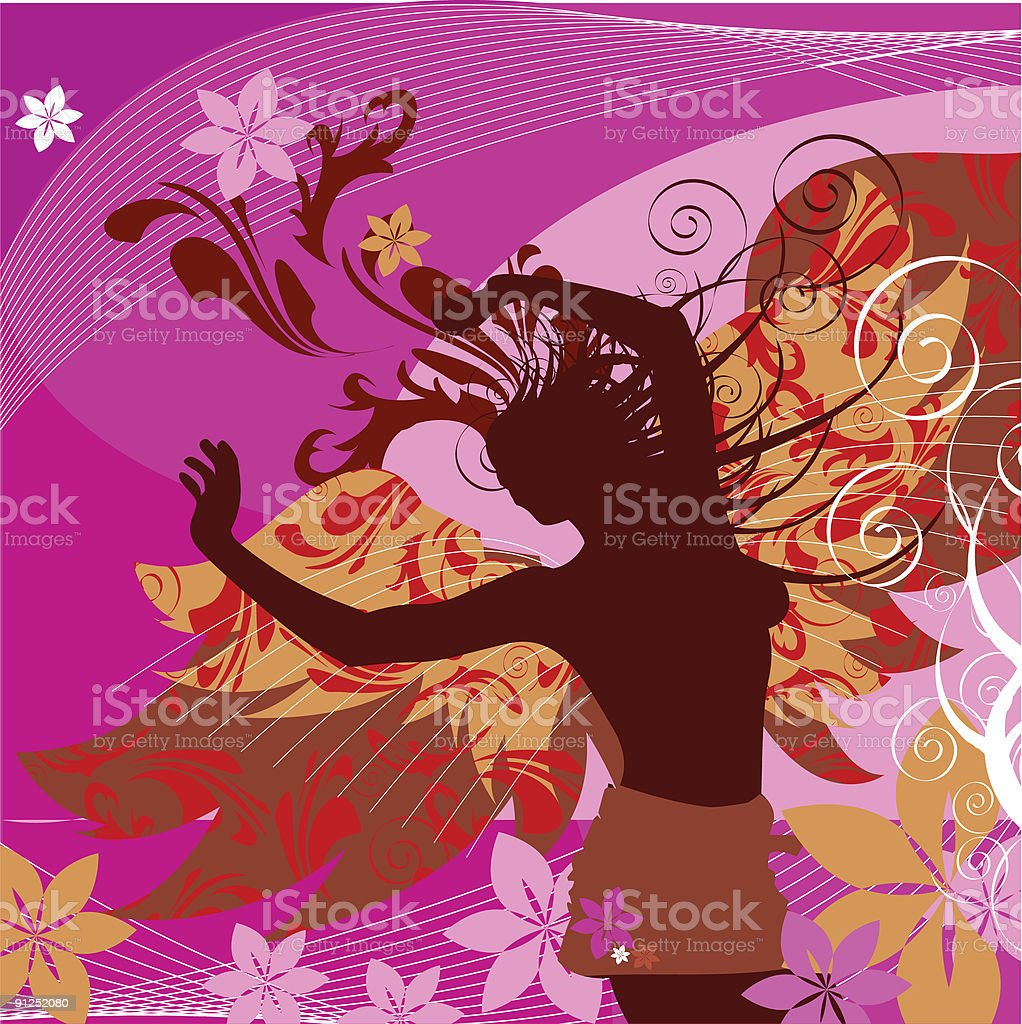 Butterfly Inspiration vector art illustration