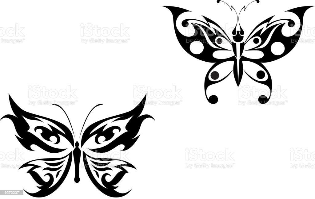 Butterfly tattoo royalty-free stock vector art
