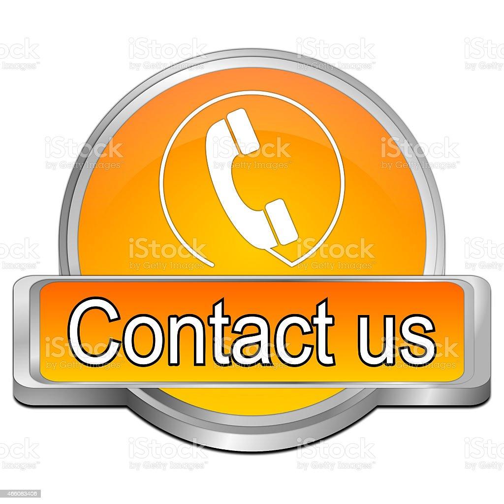 Button contact us vector art illustration
