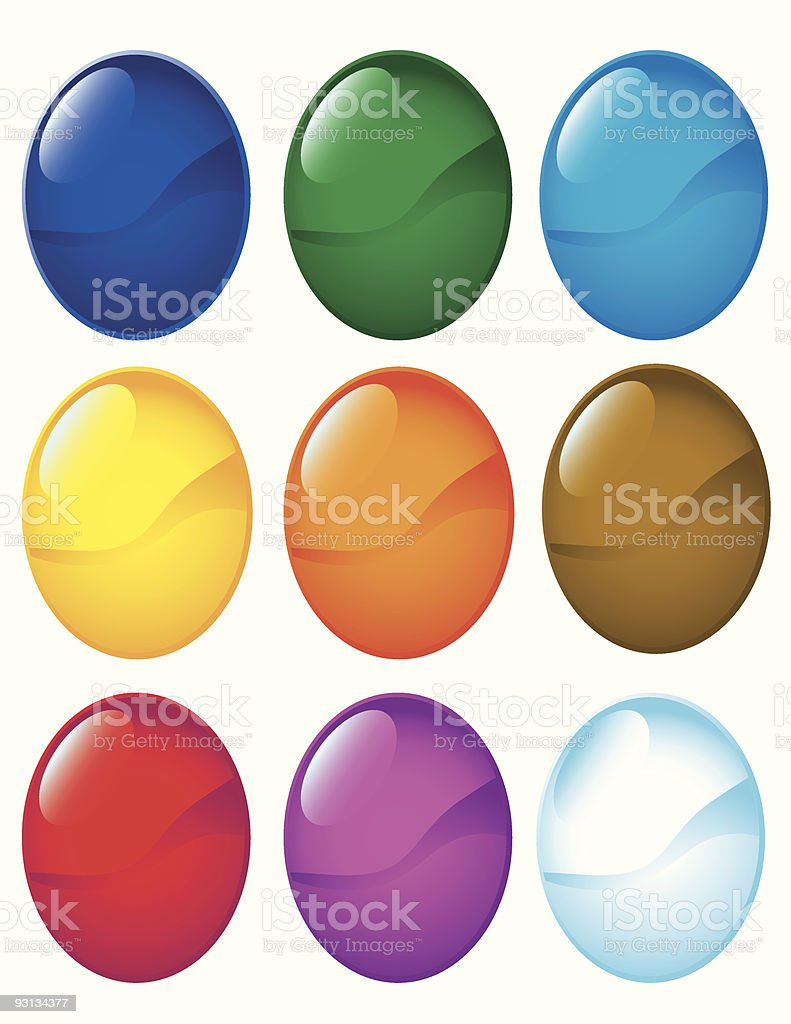 Button Icons royalty-free stock vector art