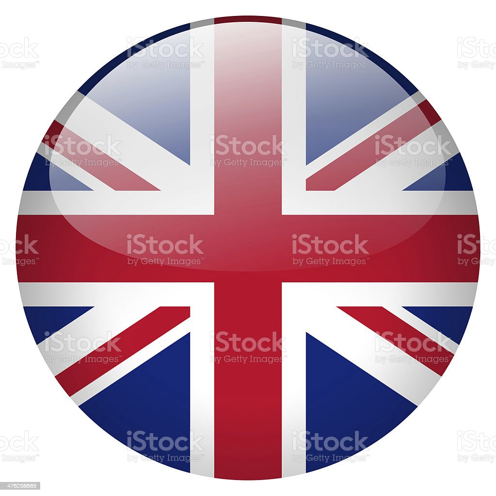 UK button vector art illustration