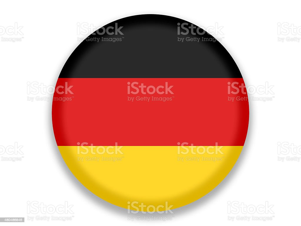 Button National Flag of Germany vector art illustration