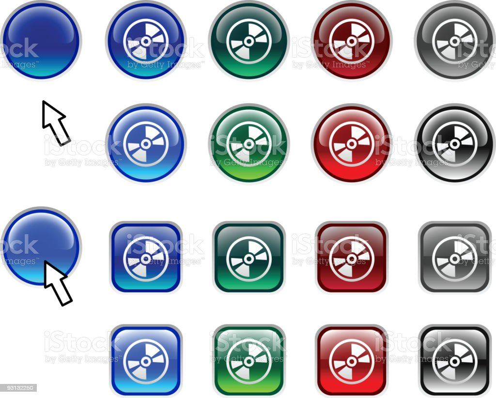 CD buttons. royalty-free stock vector art
