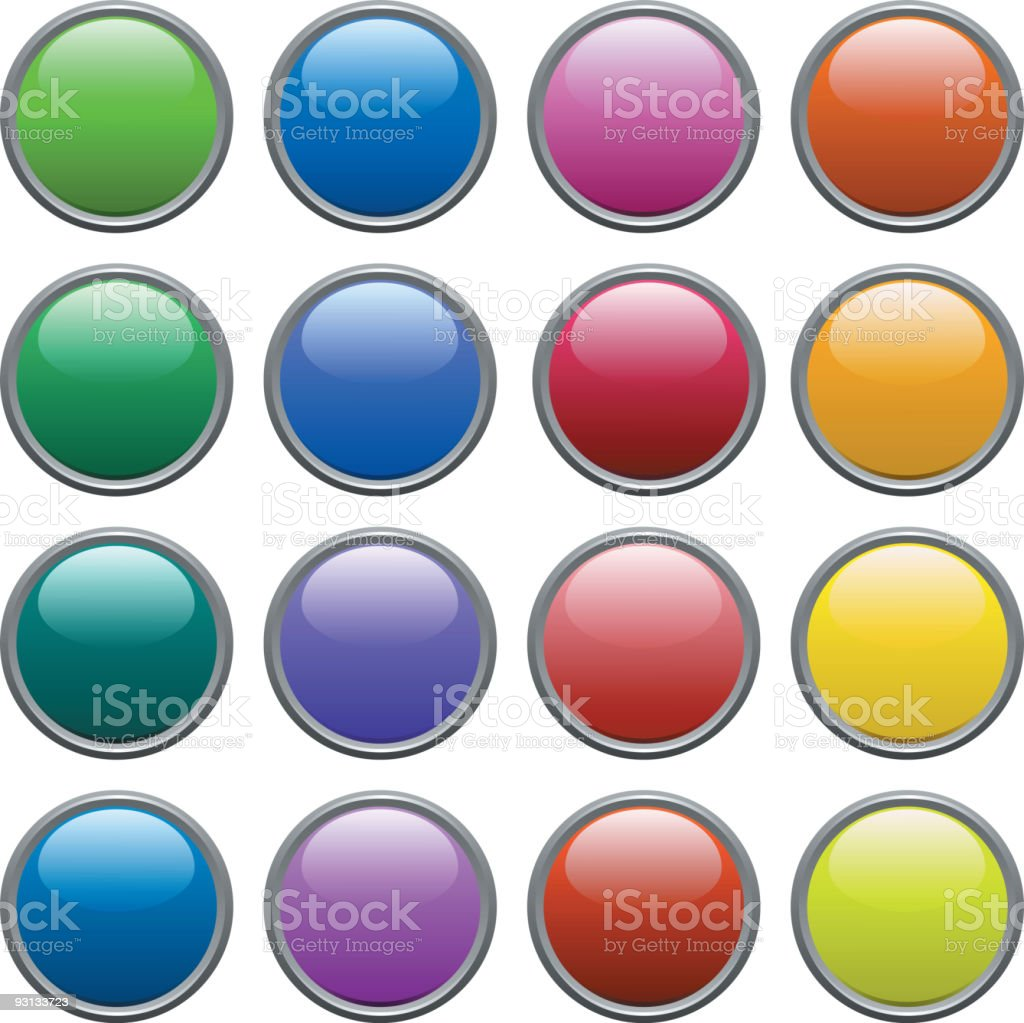 Buttons. royalty-free stock vector art