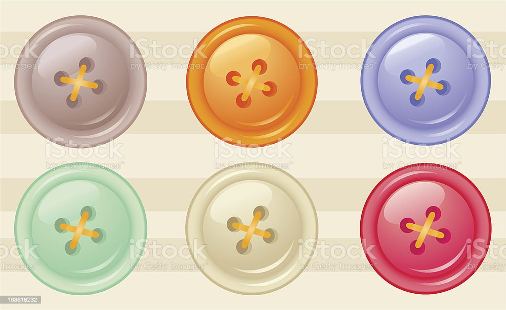 buttons of different colors royalty-free stock vector art