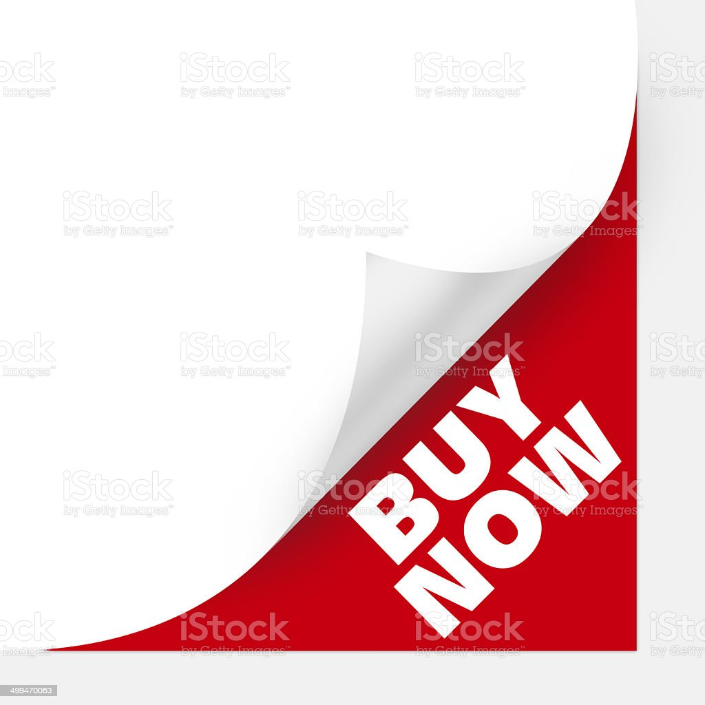 Buy now Curved Corner paper vector art illustration
