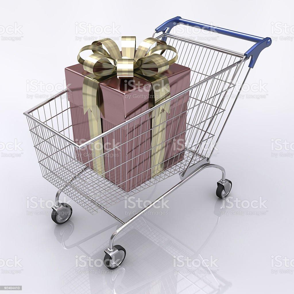 Buying Gift vector art illustration